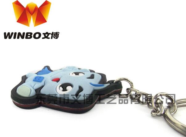 高品质硅胶汽车装饰钥匙扣