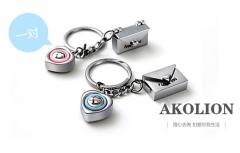 金属礼品情侣汽车钥匙扣
