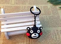 双面滴胶LED灯熊本熊钥匙扣