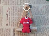 双面滴胶PVC软胶球衣钥匙扣