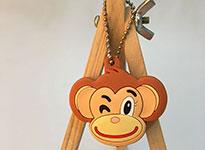 PVC动物表情钥匙套