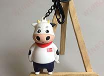 立体广告奶牛PVC钥匙扣