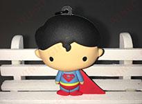 超人蜘蛛侠PVC软胶3D立体钥匙扣